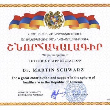 Nachgang zum Kurzeinsatz in Armenien